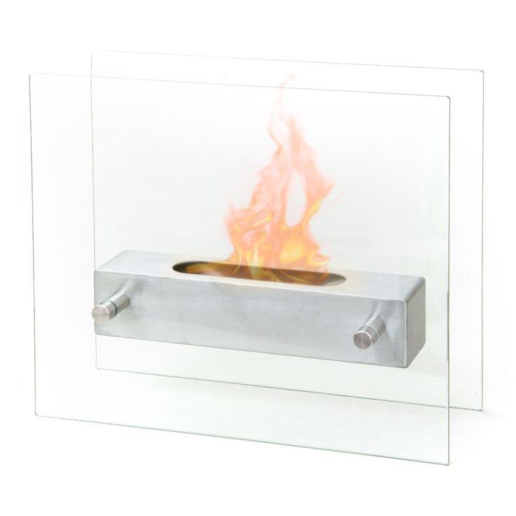 Biocamino bioetanolo design moderno per interno esterno tavolo inox BOSTON