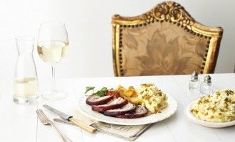 Dinner for One - Slow roasted pork belly