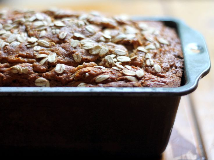 Whole Wheat Oatmeal Applesauce Banana Bread {healthy + vegan-friendly} | Ambitious Kitchen