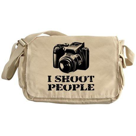 I SHOOT PEOPLE! Photography Photographer Messenger Bag on CafePress.com #photography #photographer