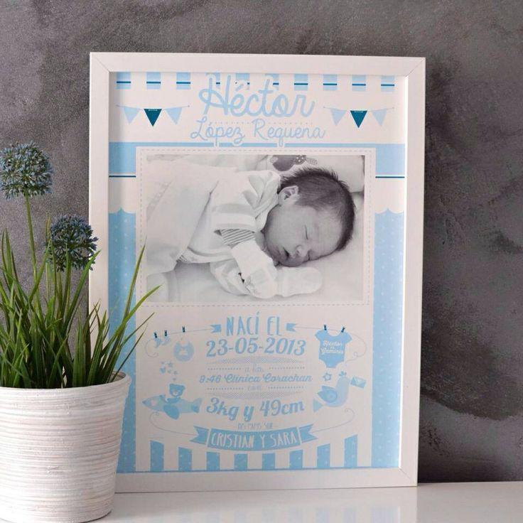 Cuadro nacimiento azul Medidas 30x40  25€