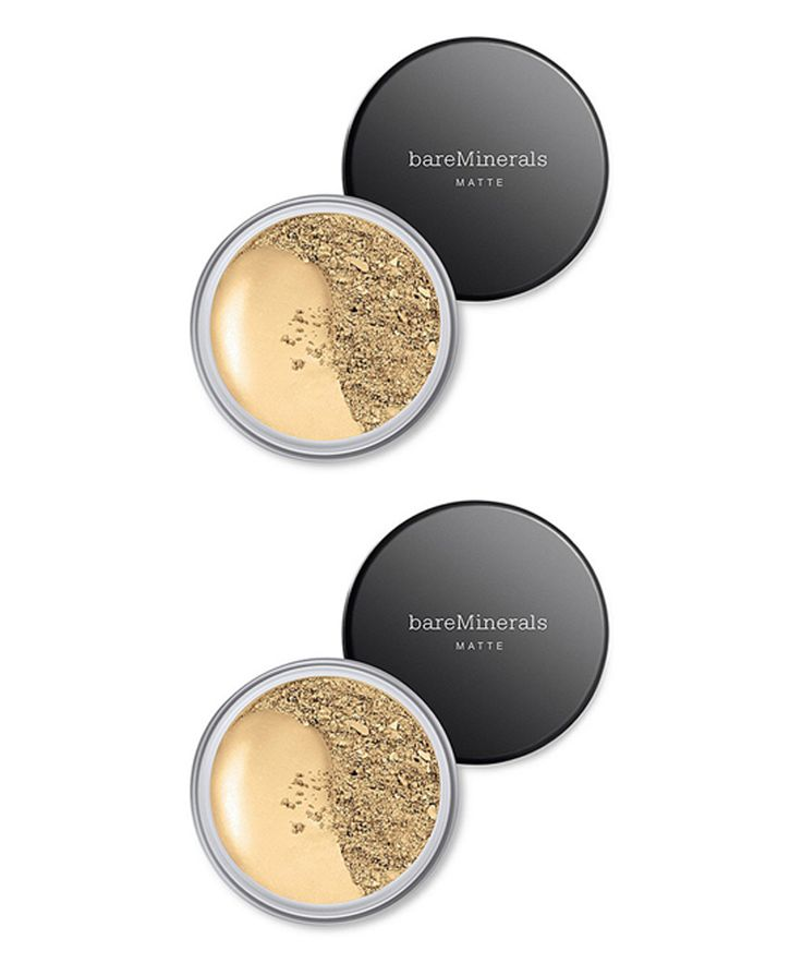 Medium Golden Matte Mineral Foundation - Set of Two