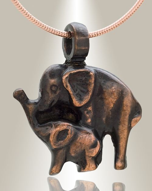 Find chic Night Elephants cremains pendants, elephant keepsake jewelry and animal cremation necklaces.  Quick shipment of unique animal jewelry urns and animal cremation necklaces for memoirs.
