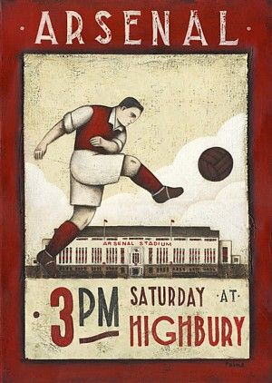 Arsenal by Paine Proffit  cool poster just wish it was liverpool
