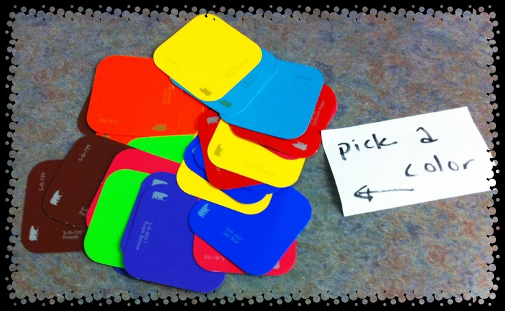 Classroom Grouping Ideas ~ Use paint swatches to group students teaching materials