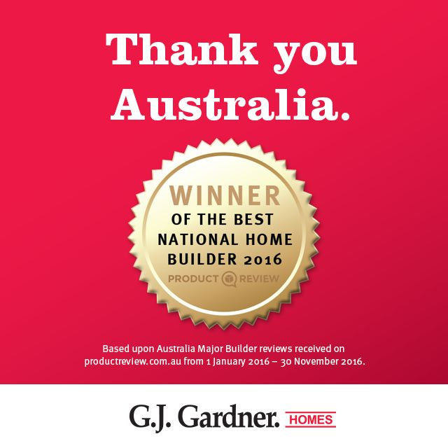 """Thank you #ProductReview for rating us your #1 major builders in Australia! The websites boasts over 4 million visitors per month & centres around providing Australians with the opportunity to both offer & gather unbiased consumer experienced-based opinions on some of the world's leading brands. """"It's gotta be a G.J. Gardner home!"""" P:132789 ★ #CLICK #LIKE #PINIT★"""