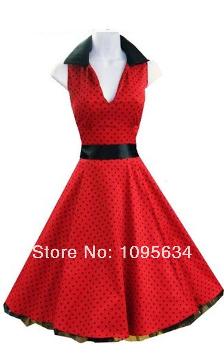 free-shipping-RED-Polka-dot-Swing-font-b-50-s-b-font-font-b-Housewife-b.jpg (978×1500)