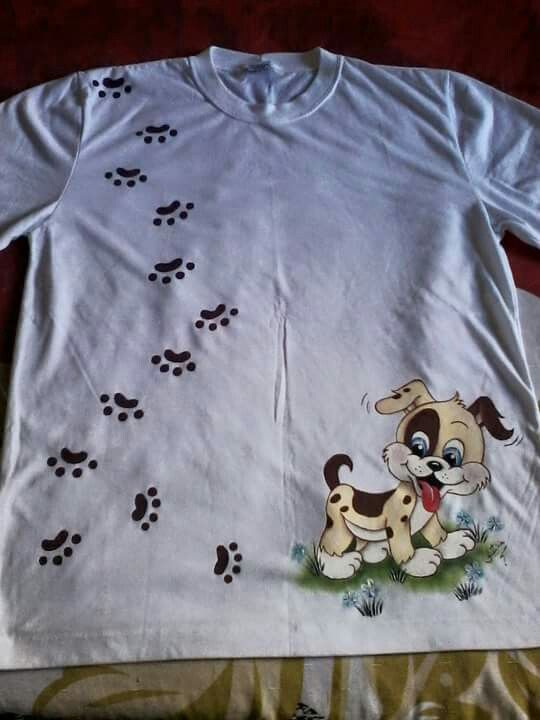 Camiseta com cachorrinho