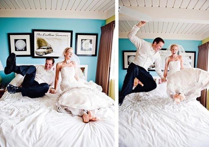 Una foto súper divertida y original que no pueden dejar de incluir en su álbum de boda