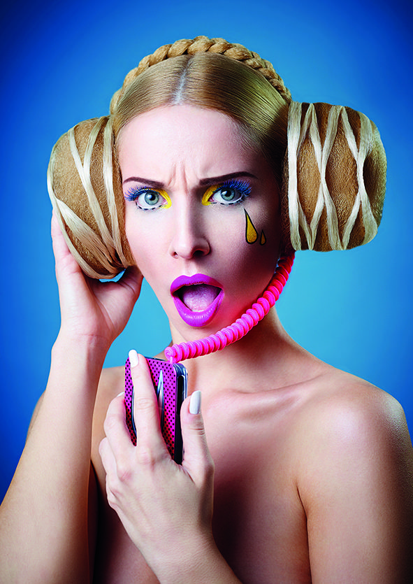 D. Machts Group (Berlin-Germany) – Hair Collection, magazine trends 2016, avantgarde hair, make-up & style, pop-art photography.