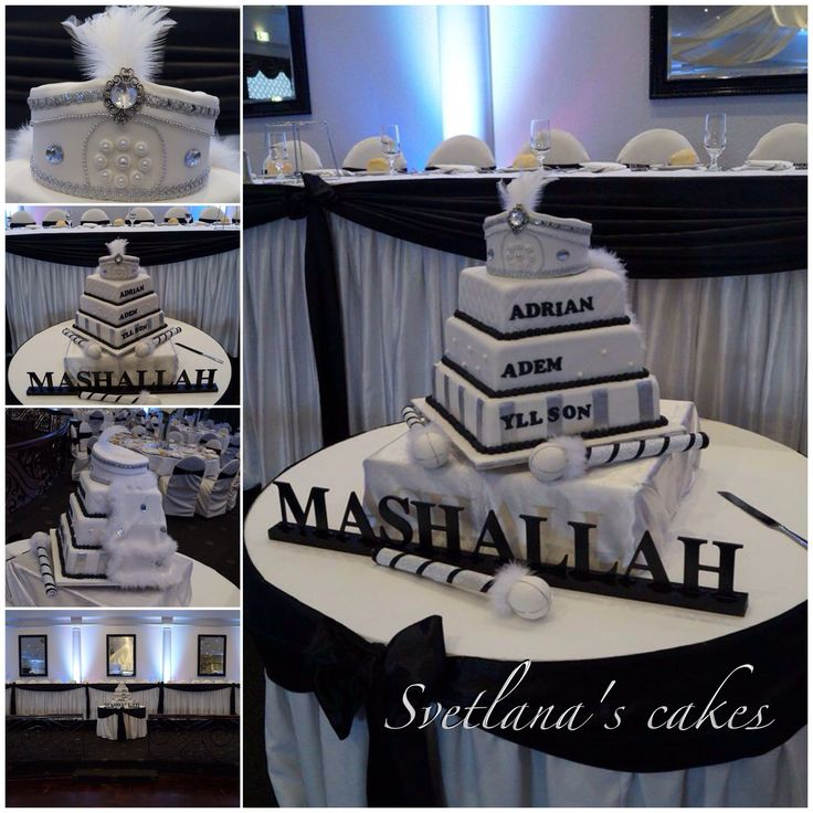 Black and white elegant sunnet cake.. Mashallah Adrian, Adem and Yllson!...