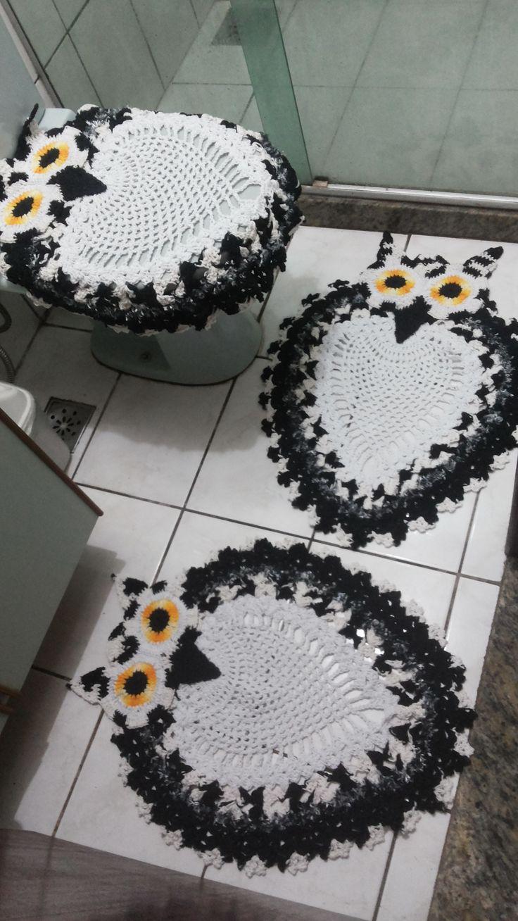 Jg de banheiro coruja 3 peças