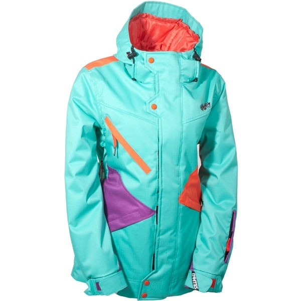 Nomis Pimpstress Womens Snowboard Jacket - Mint Julip I think my next jacket - Ideas About Womens Snowboarding Gear On Pinterest