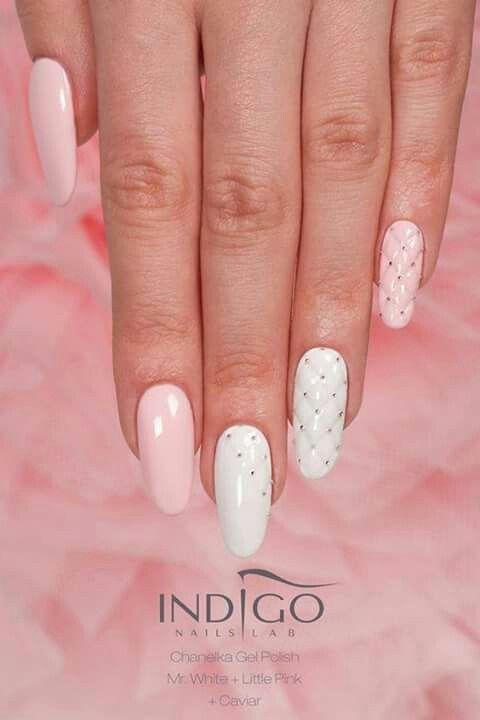 Pikowane różowe i białe piękno :)