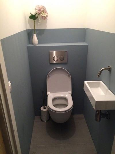 STIJLIDEE gaf kleuradvies voor dit toilet in jaren 30 stijl | Copyrights Portfolio STIJLIDEE