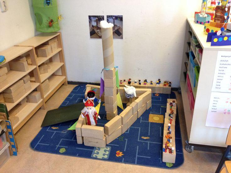 Stoomboot in de bouwhoek