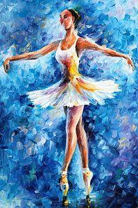 Ballerina Olajfestmény - Blue Dance Leonyid Afremov