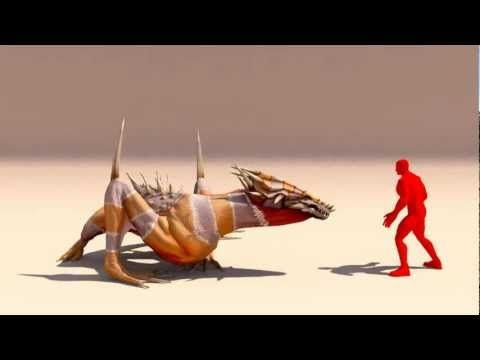 Lizard. Game animation - YouTube