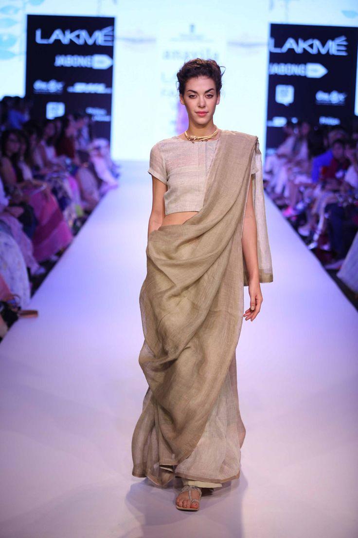Saree for fashion show sakshi prakash sakshiprakash on pinterest