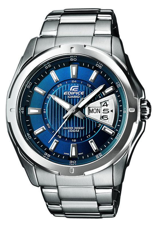 Casio Edifice EF-129D-2AVEF - Horloge - 44.8 mm - Staal - Zilverkleurig