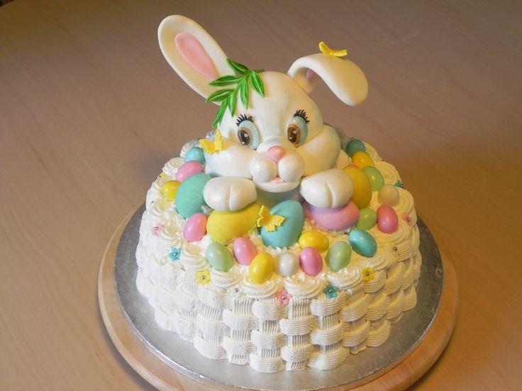 Coniglio Pasquale in pasta di zucchero