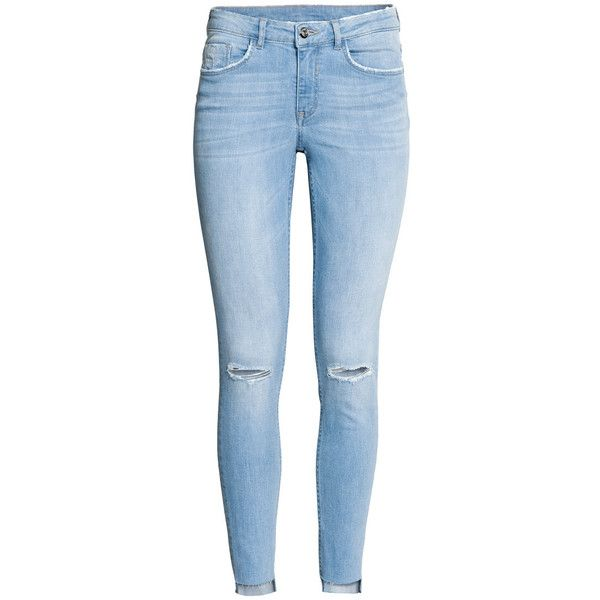 Super Skinny Ankle Jeans 24,99 found on Polyvore featuring polyvore, women's fashion, clothing, jeans, pants, bottoms, denim skinny jeans, blue skinny jeans, ankle jeans and h&m skinny jeans
