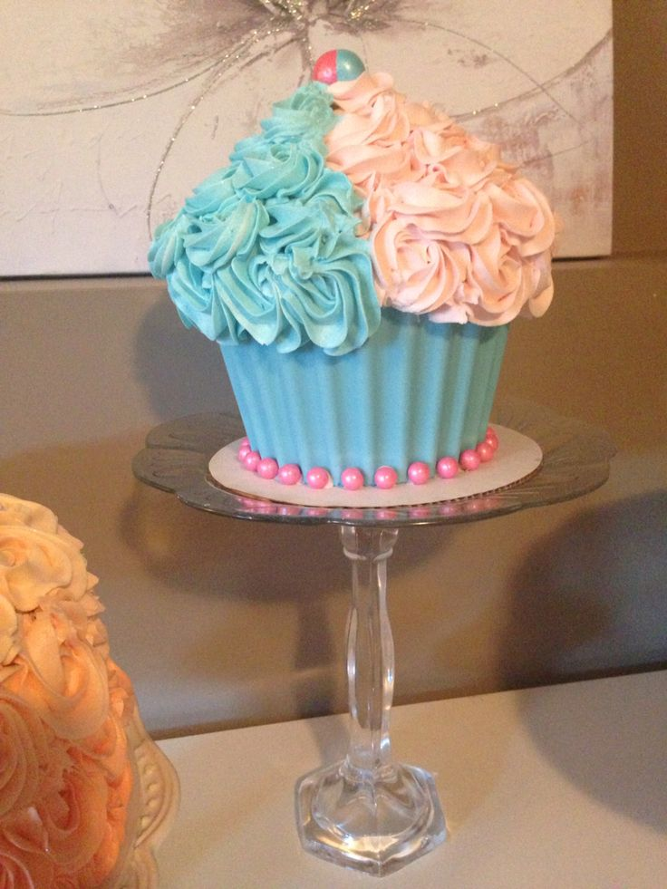 Gender Reveal Giant Cupcake Cakes Pinterest Cupcake