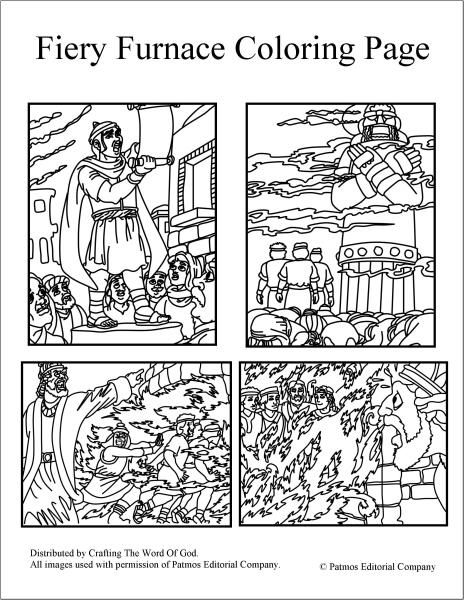 fiery furnace coloring pages - Bible Story Coloring Pages Daniel