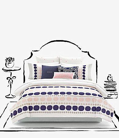 kate spade new york Ikat Dot Cotton Twill Comforter Mini Set #Dillards