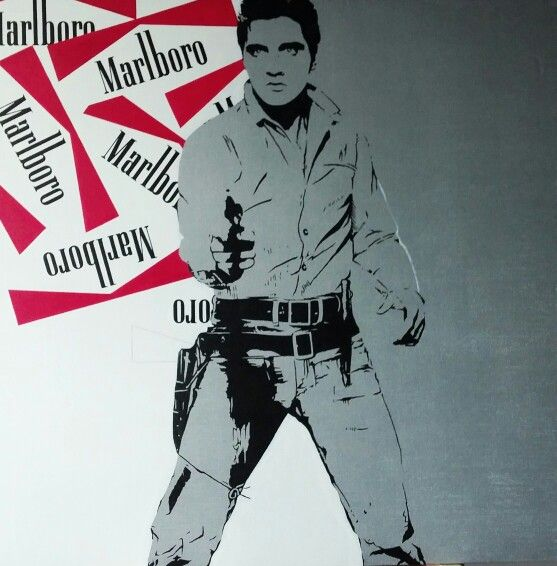 Elvis Presley Work in progress Acrylic on canvas 100x100cm