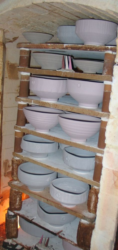 Before - gas firing small kiln March 2009