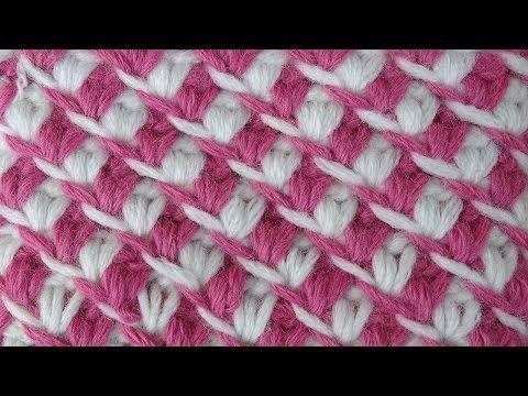 Crochet pattern Начинаем вязать – Видео уроки вязания » Плотный узор по кругу – Вязание крючком – Узор №56