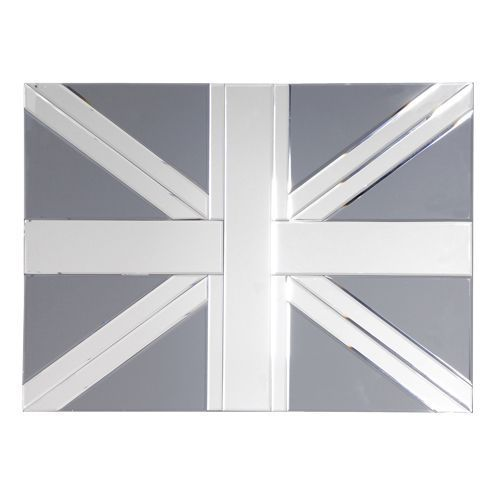 Union Jack Etched Wall Mirror