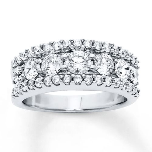 Diamond Anniversary Band 2 Carats tw Round-cut 14K White Gold from Kay Jewelers on shop.CatalogSpree.com, your personal digital mall.