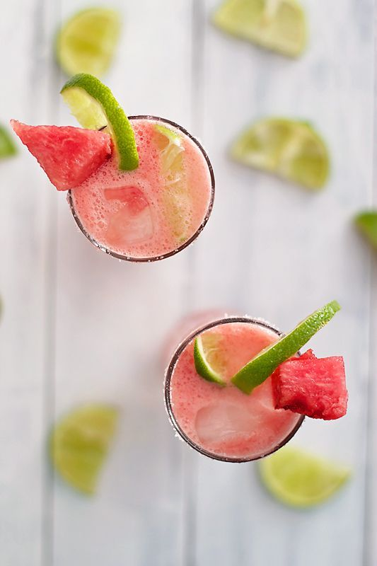Watermelon Tequila CocktailJuicy watermelon with freshly squeezed lime juice AND tequila? We just found our new summertime staple. #refinery29 http://www.refinery29.com/tequila-drinks#slide-1