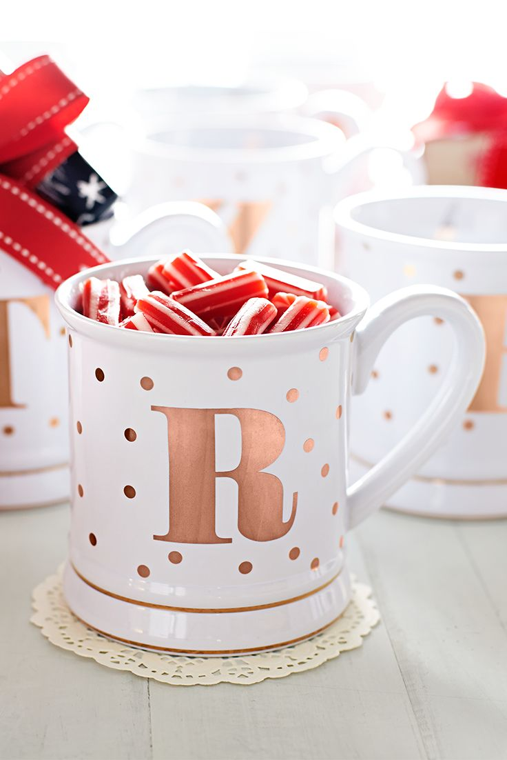 Here's a bright idea from Pier 1 to help you get a handle on the holidays: Add your favorite treats and a Pier 1 gift card to our McKenzie Monogram Mug for a sweet gift.