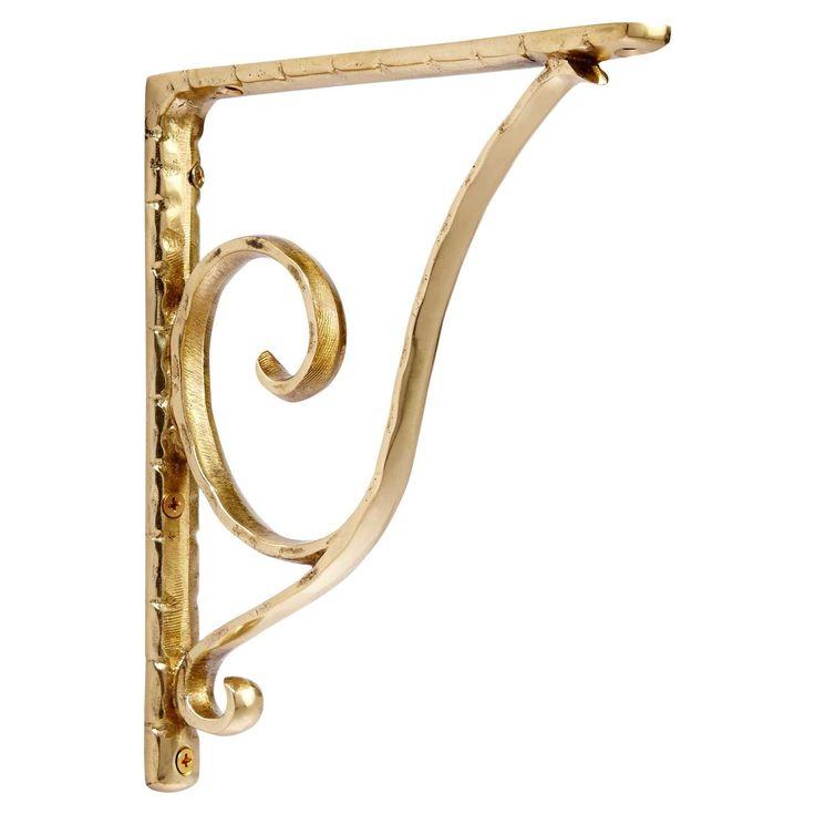 sprig brass shelf bracket