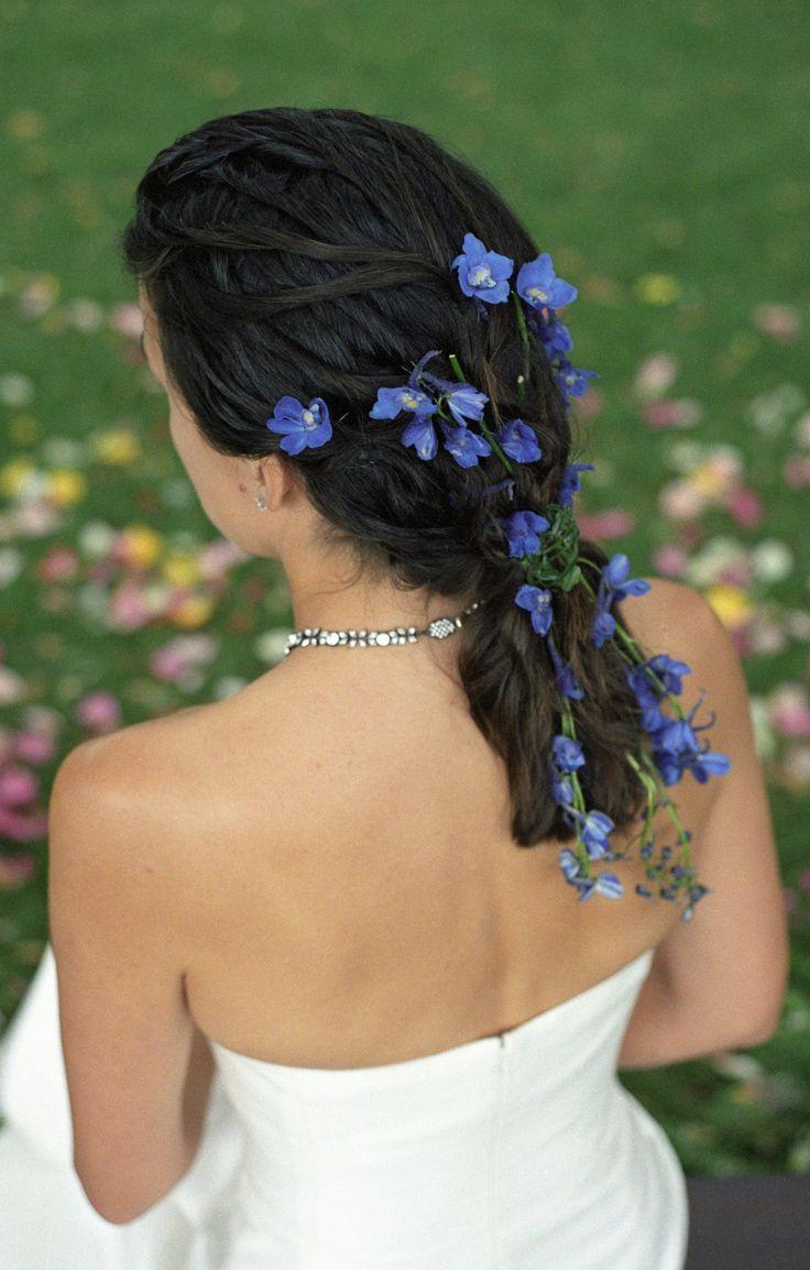 Brautfrisur dunkle Haare