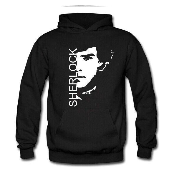 Free Shipping Men Cotton Sherlock Hoodies Cute Gray England Sherlock Pullover Hoodies For Men & Women