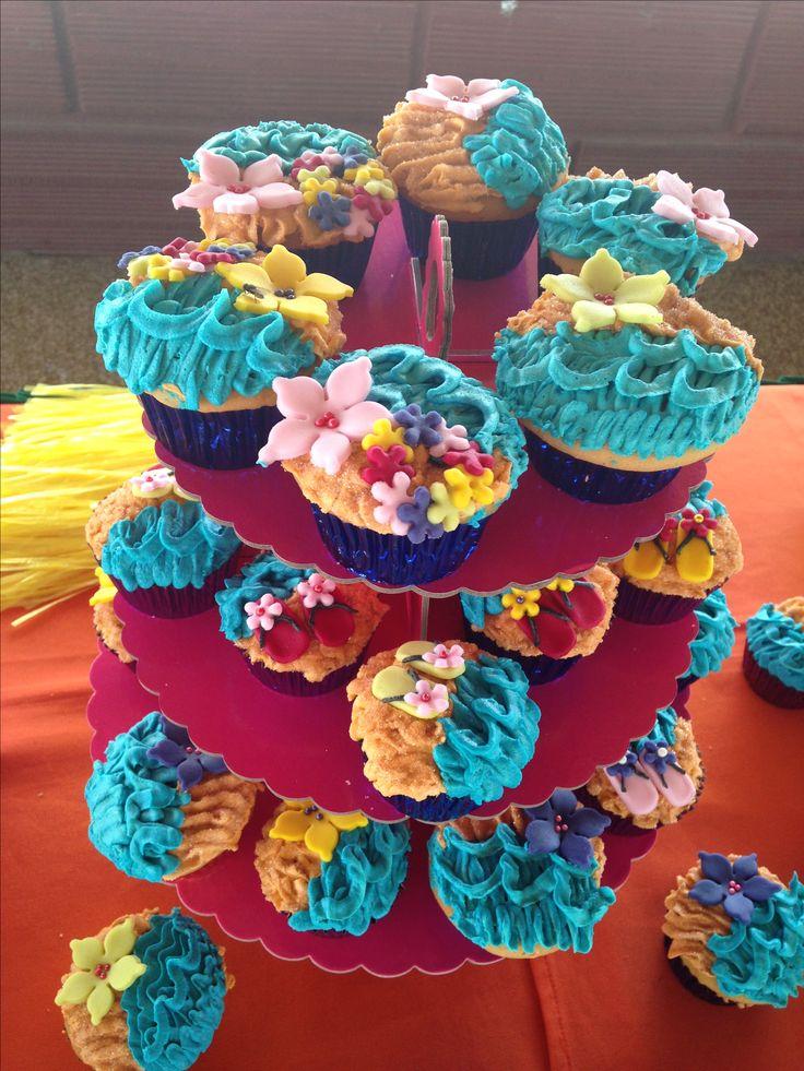 Cupcakes Hawaianos,  piscinada