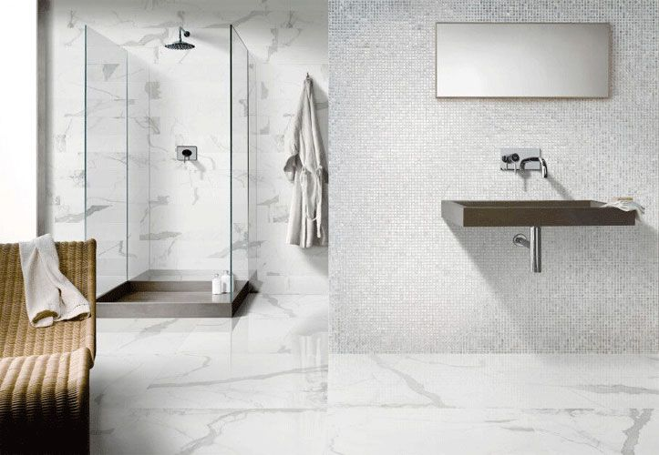 Tile Bathroom Marble, Porcelain Tile Bathroom Floor Slippery