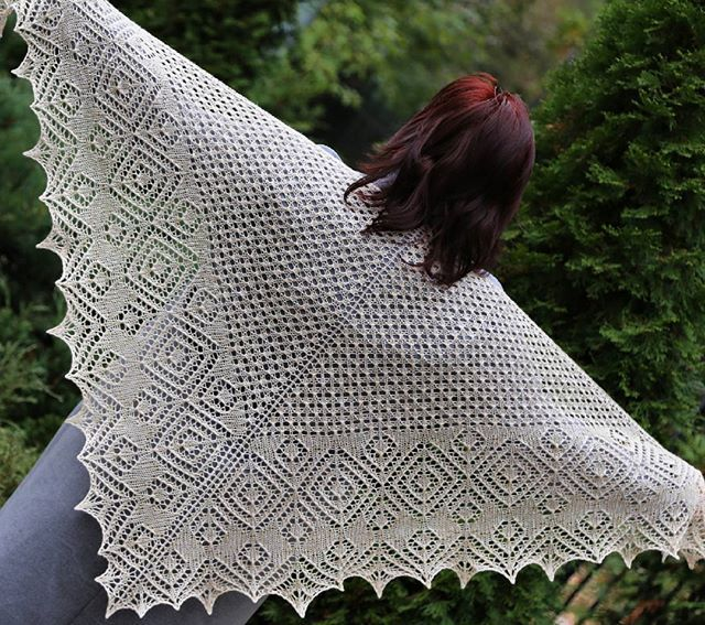 Knitting Stories by Venera: Шаль Перекати-Поле + МК