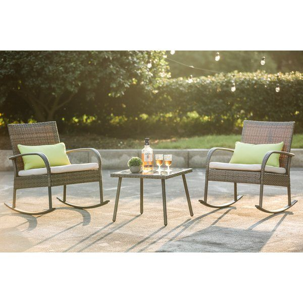 You Ll Love The 3 Piece Conversation Set With Cushions At Wayfair