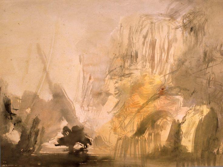 Paisaje rocoso al borde del mar. Eugenio Lucas Velázquez. Nº Inv. 09011