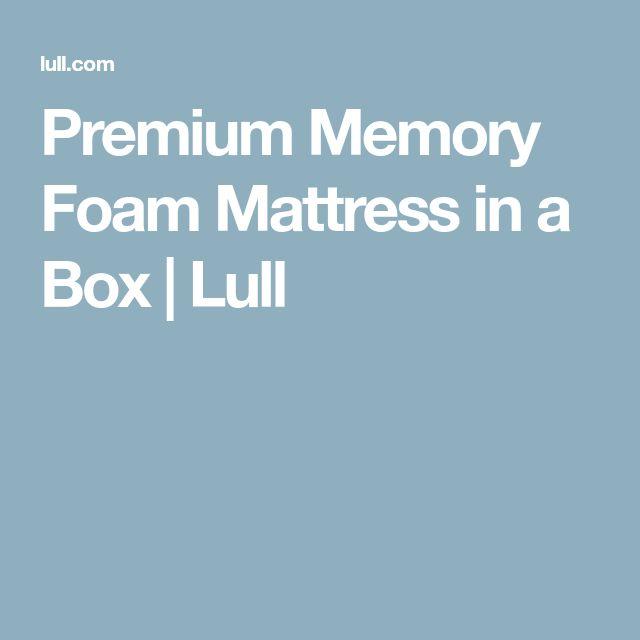Premium Memory Foam Mattress in a Box | Lull
