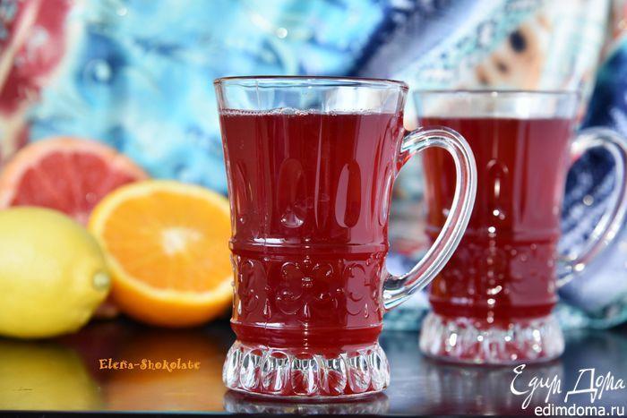 """Чай """"Горячий цитрус"""". Чай """"Горячий цитрус"""" согреет вас своим теплом, укутает приятным ароматом, повысит иммунитет. Хорошее настроение после такого яркого и полезного витаминного напитка обеспечено! #едимдома #чай #вкусно #рецепты #кулинария #доброеутро #цитрусы"""