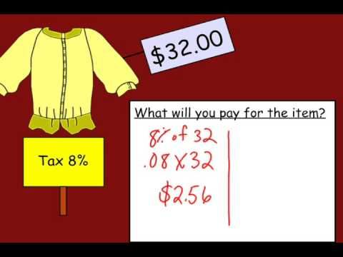 Calculating Sales Tax - YouTube