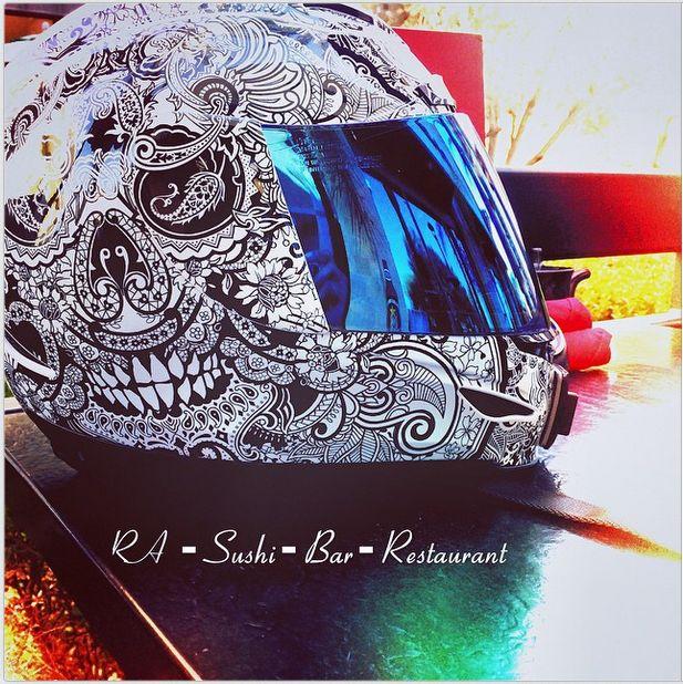 permanent marker helmet