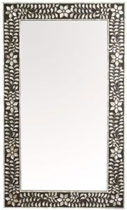 mother of pearl mirror - charcoal
