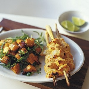 Grilled chicken skewers, Chicken skewers and Grilled ...